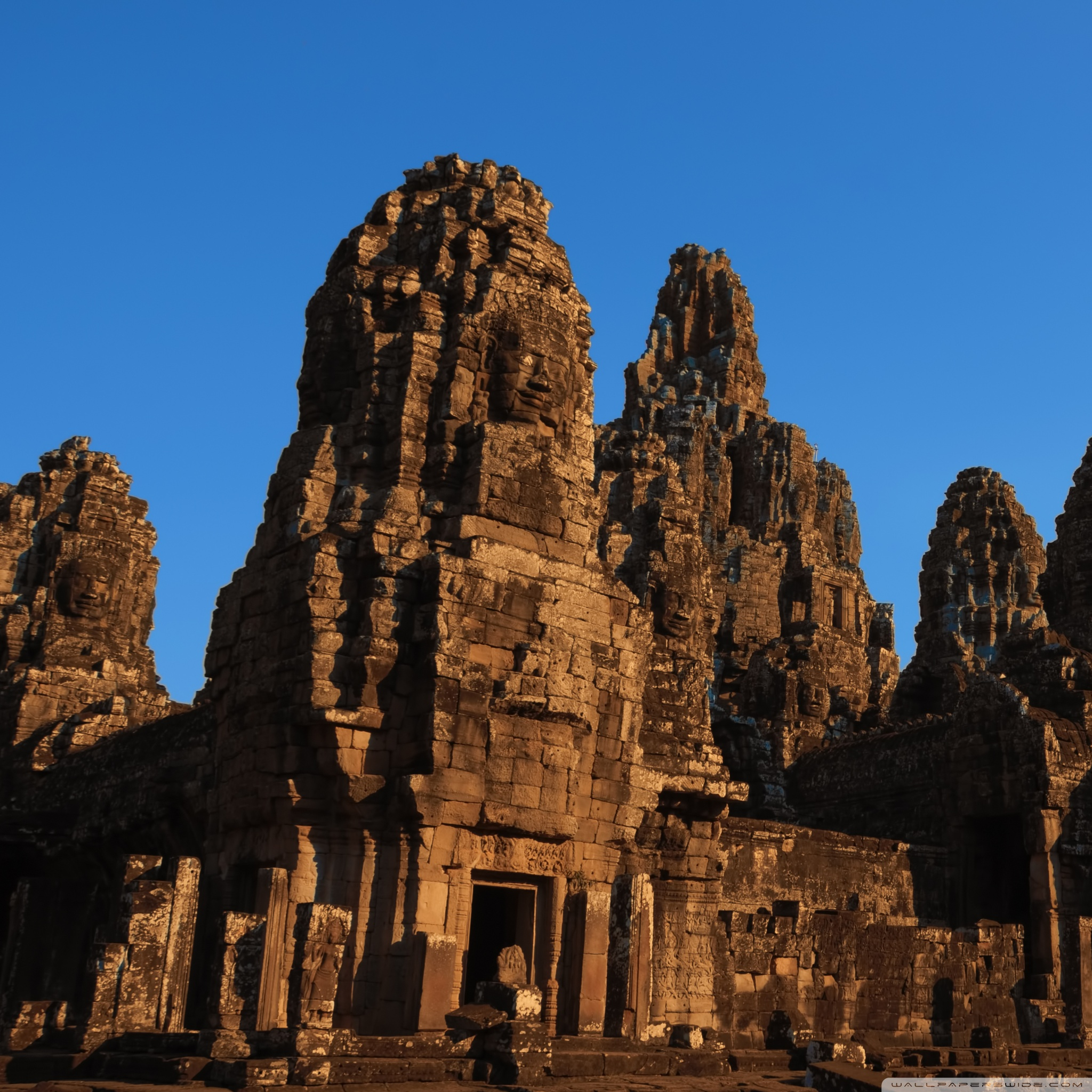 Bayon Temple In Cambodia 4K HD Desktop Wallpaper For 4K