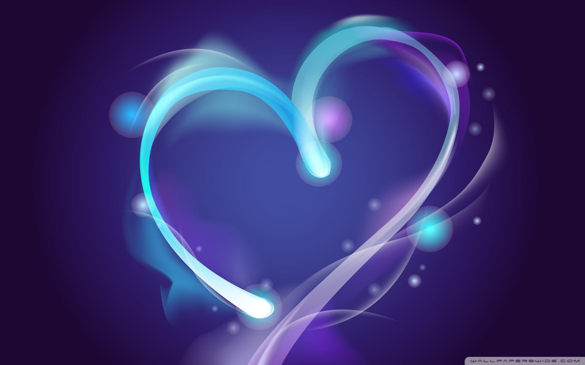 Blue Heart 4K HD Desktop Wallpaper For Ultra TV O Wide