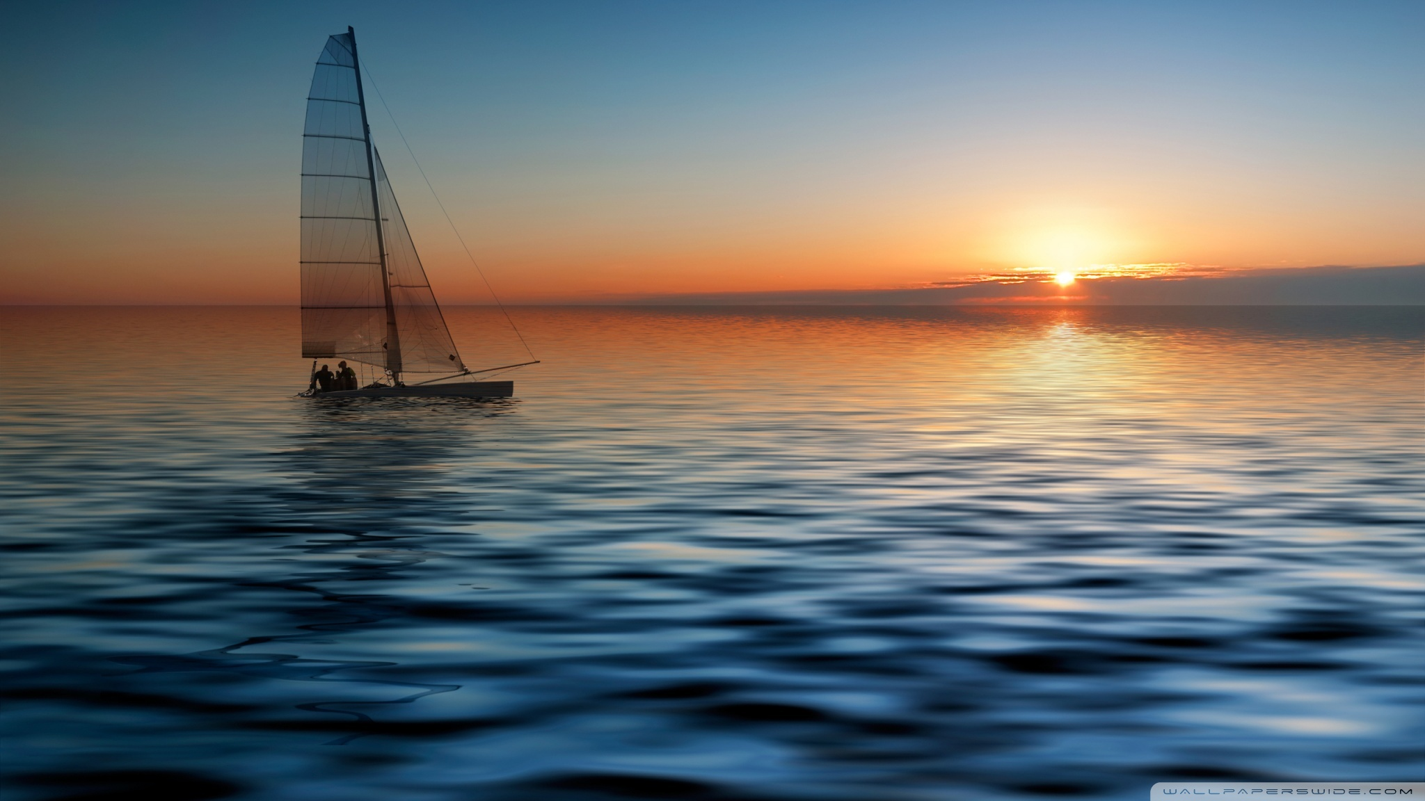 Boat At Sea 4K HD Desktop Wallpaper For Ultra TV O Wide