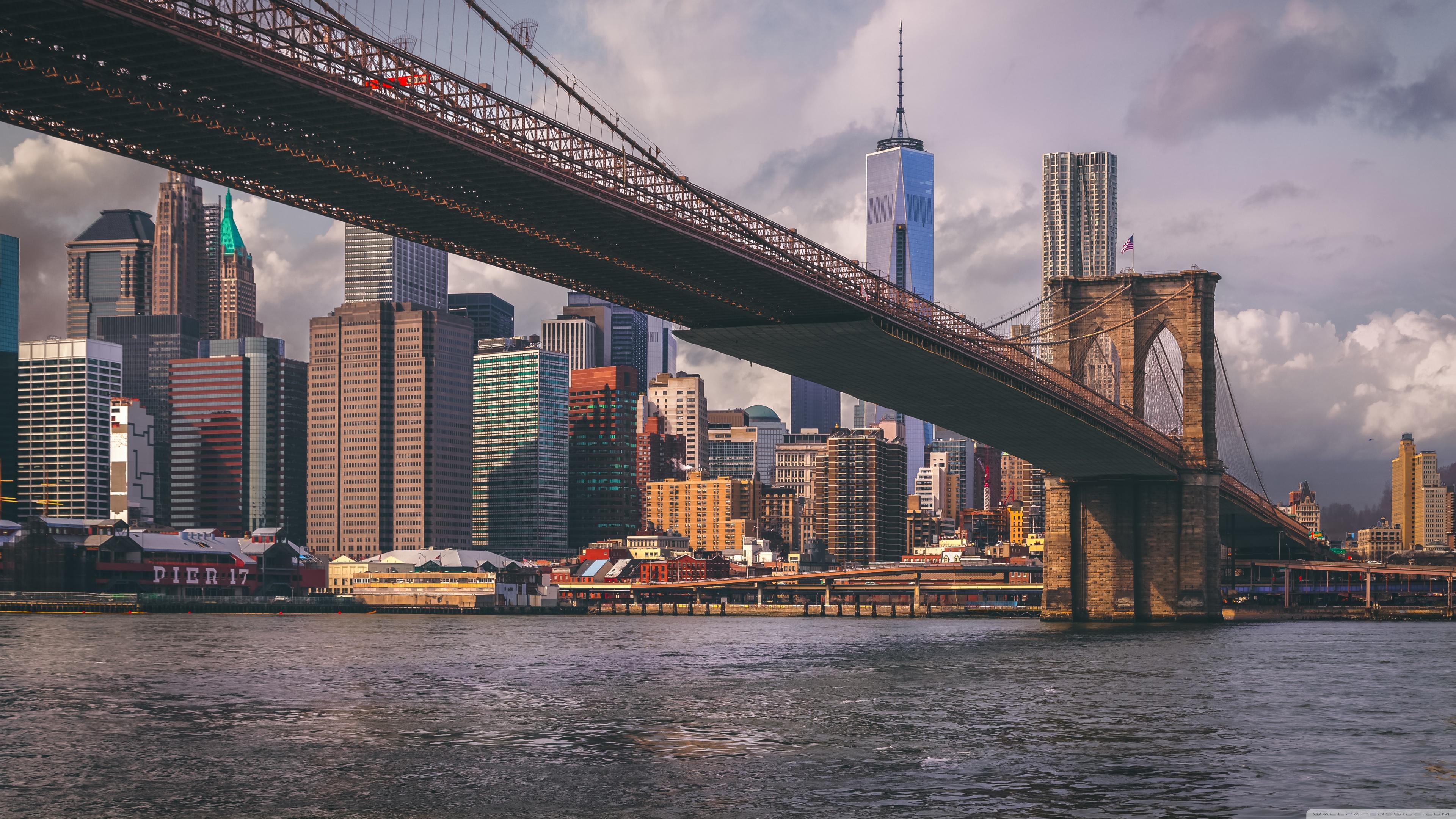 Brooklyn Bridge 4K HD Desktop Wallpaper For Ultra TV O Wide