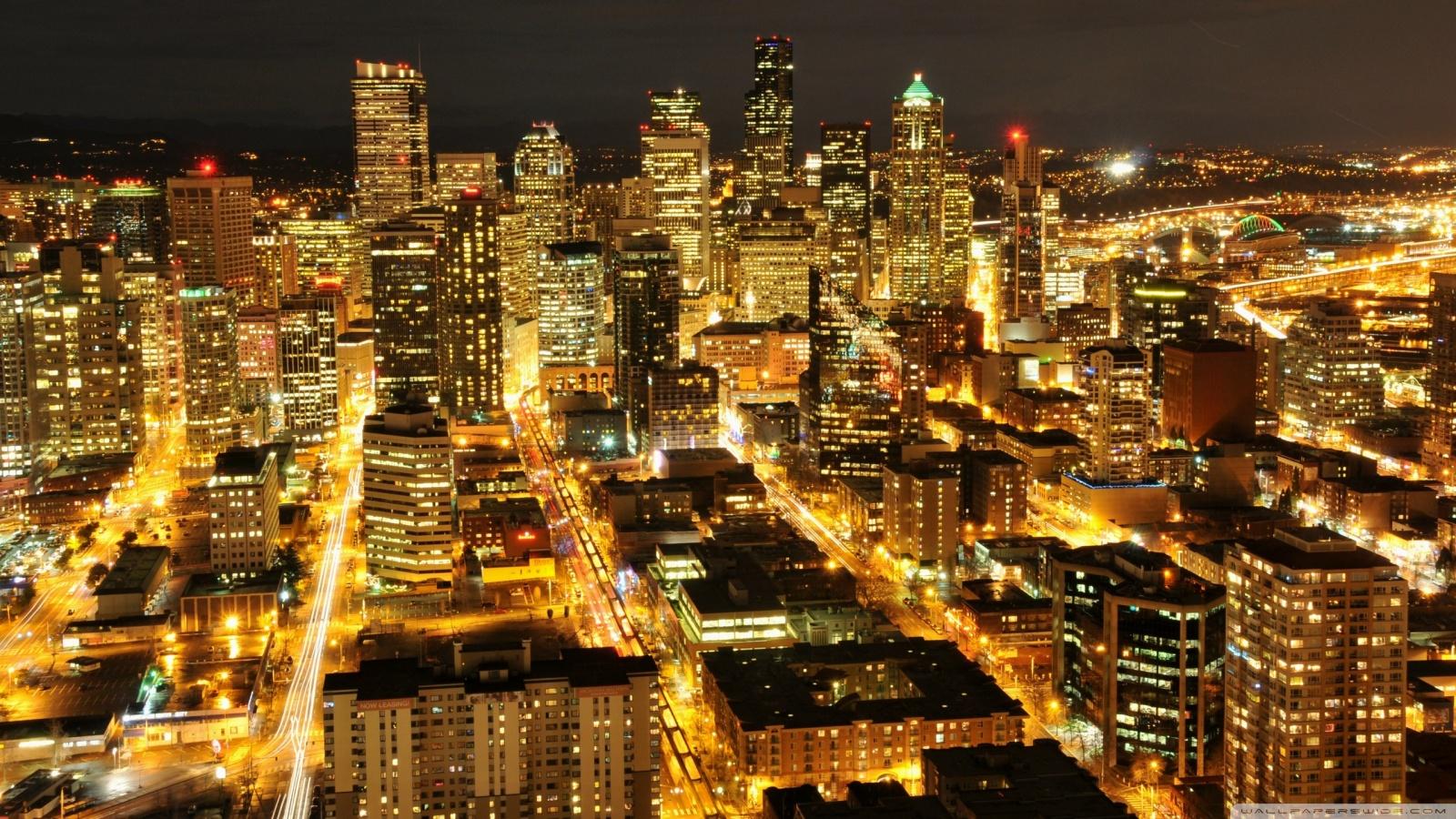 Citylights 4k hd desktop wallpaper for 4k ultra hd tv - Night light city wallpaper ...