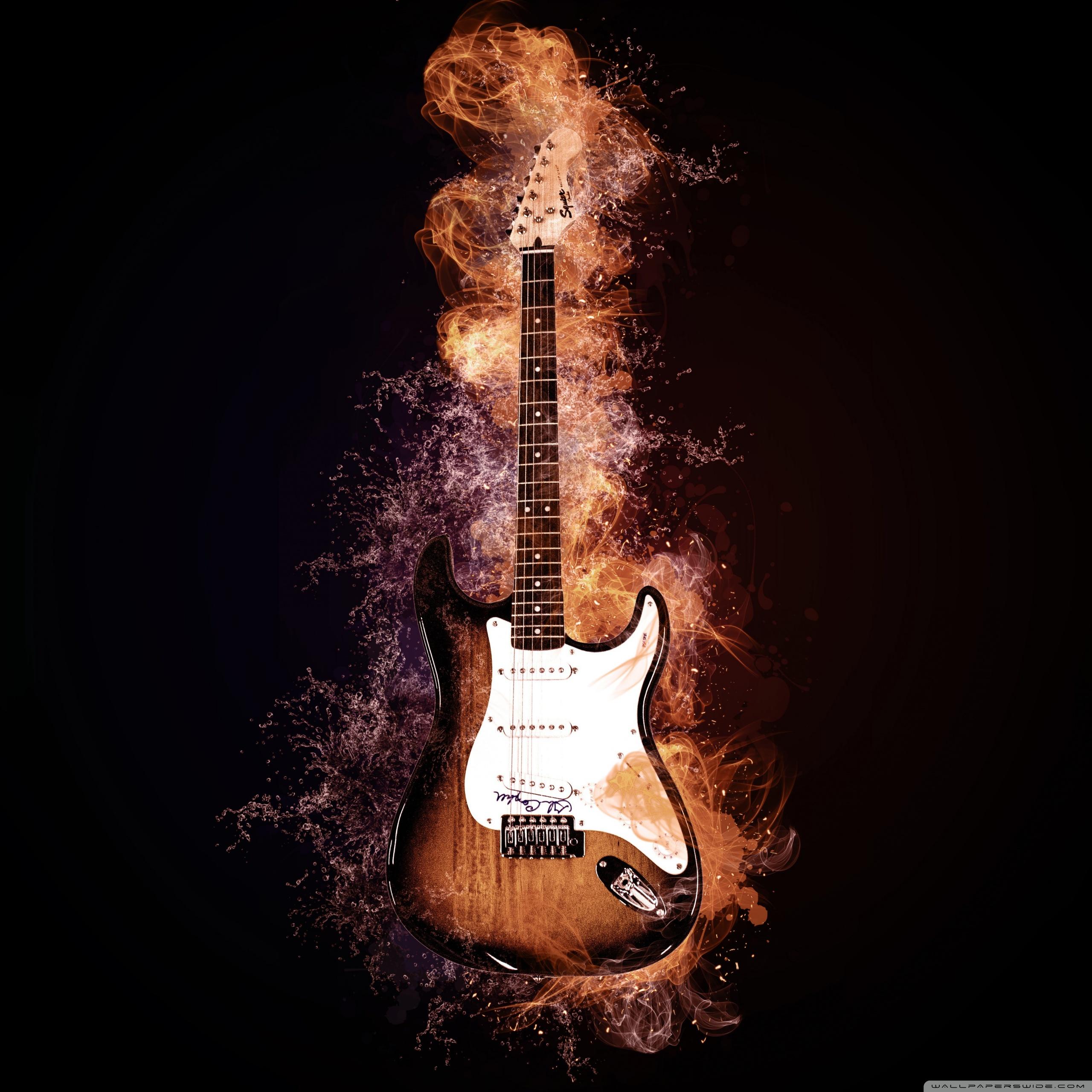 Creative Electric Guitar Ultra Hd Desktop Background Wallpaper For 4k Uhd Tv Tablet Smartphone