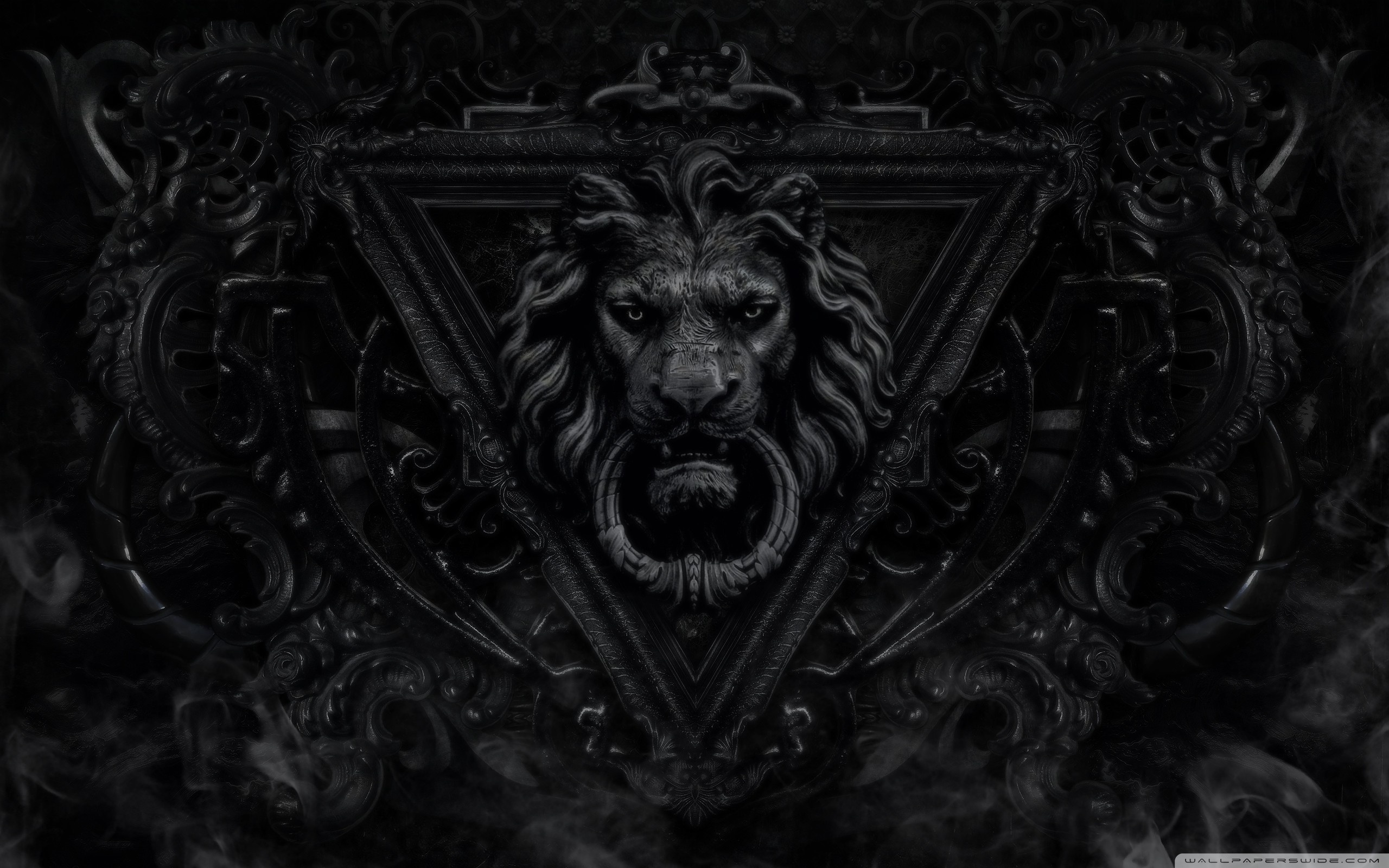 Dark Gothic Lion 4K HD Desktop Wallpaper For Ultra TV