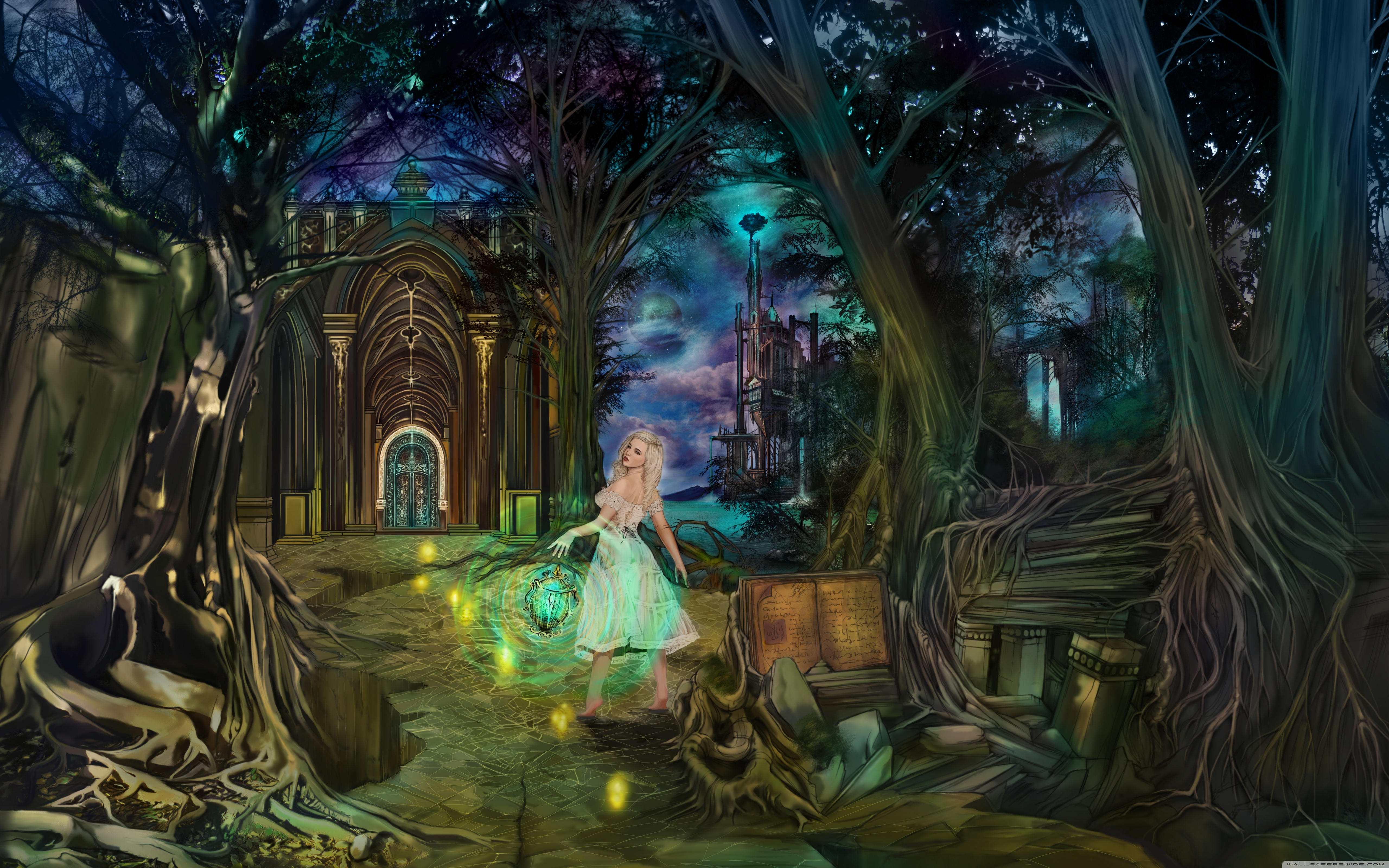 Fairytale Lady 4K HD Desktop Wallpaper For