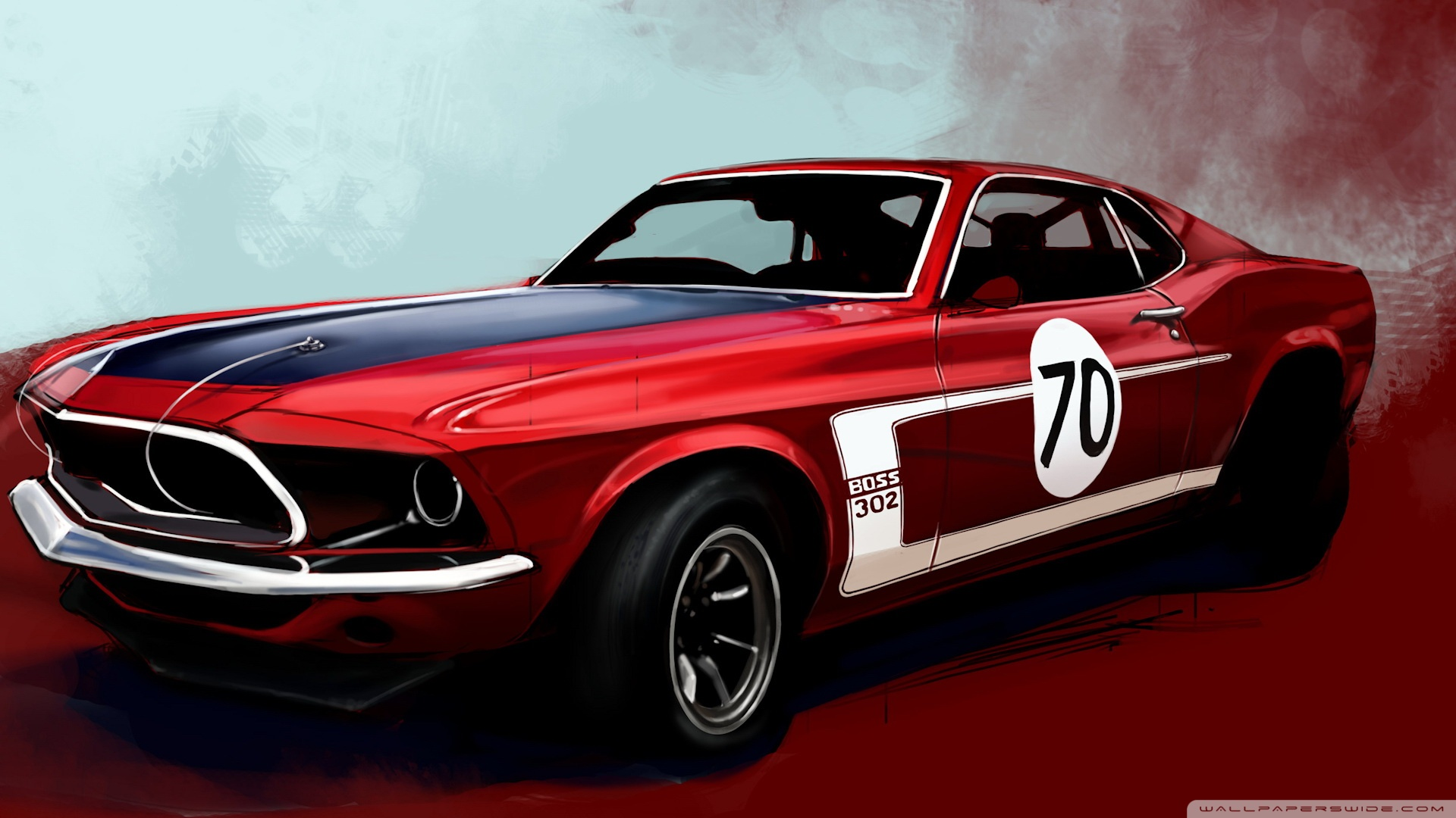 Ford Mustang Boss Classic Car Hd Desktop Wallpaper