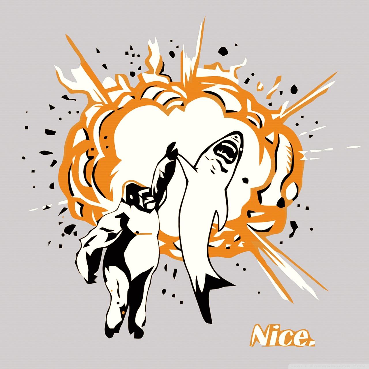 Funny gorilla and shark 4k hd desktop wallpaper for 4k ultra hd ipad voltagebd Images