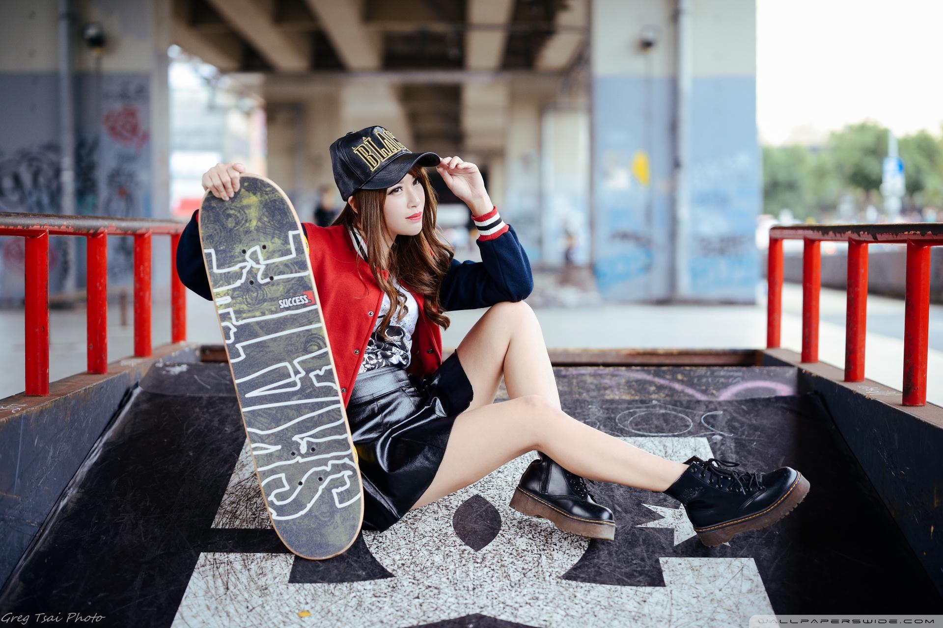 Sport Girl 4k Wallpaper: Girl Skateboarder Style 4K HD Desktop Wallpaper For 4K