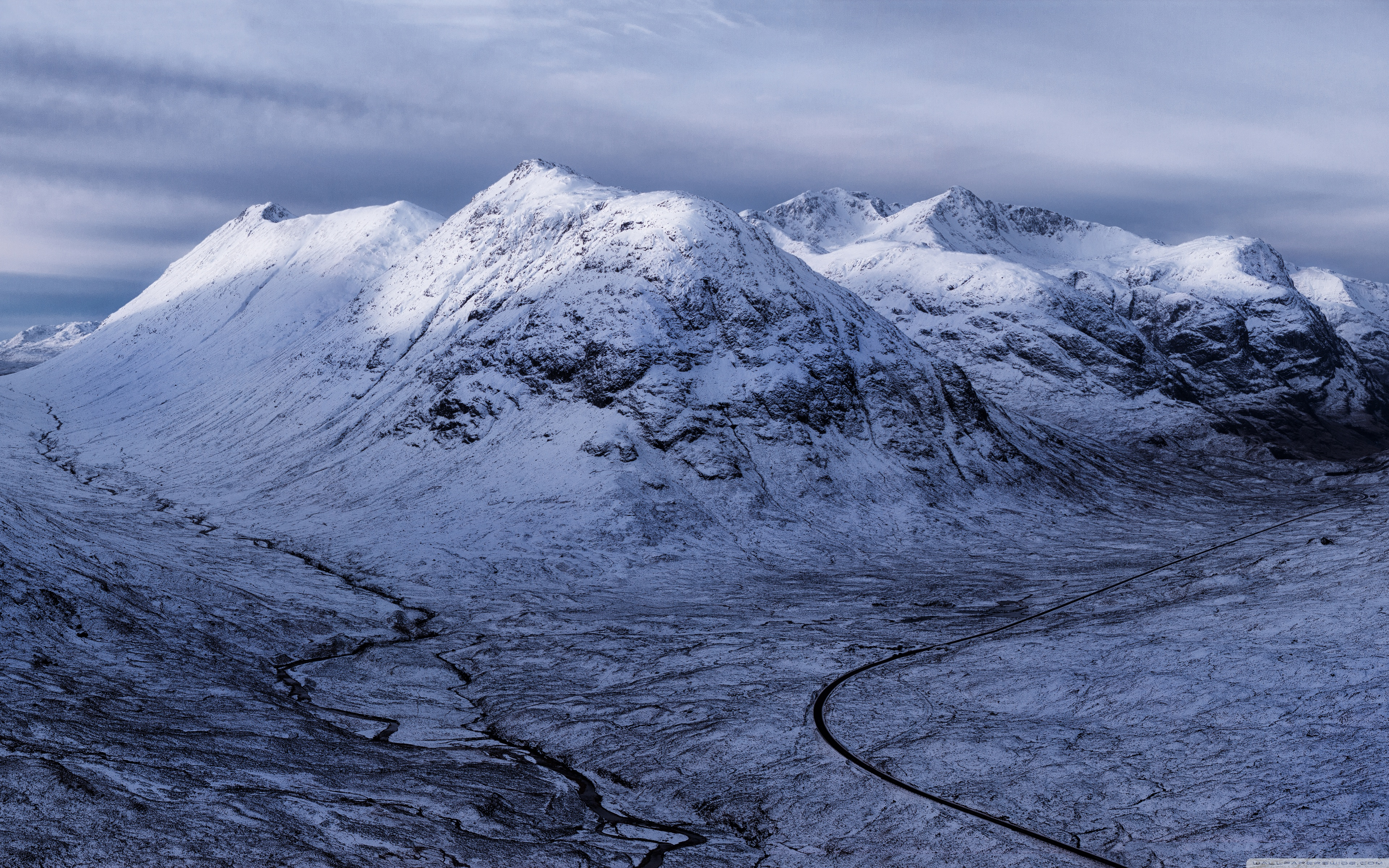 glencoe highlands of scotland, winter ❤ 4k hd desktop wallpaper for