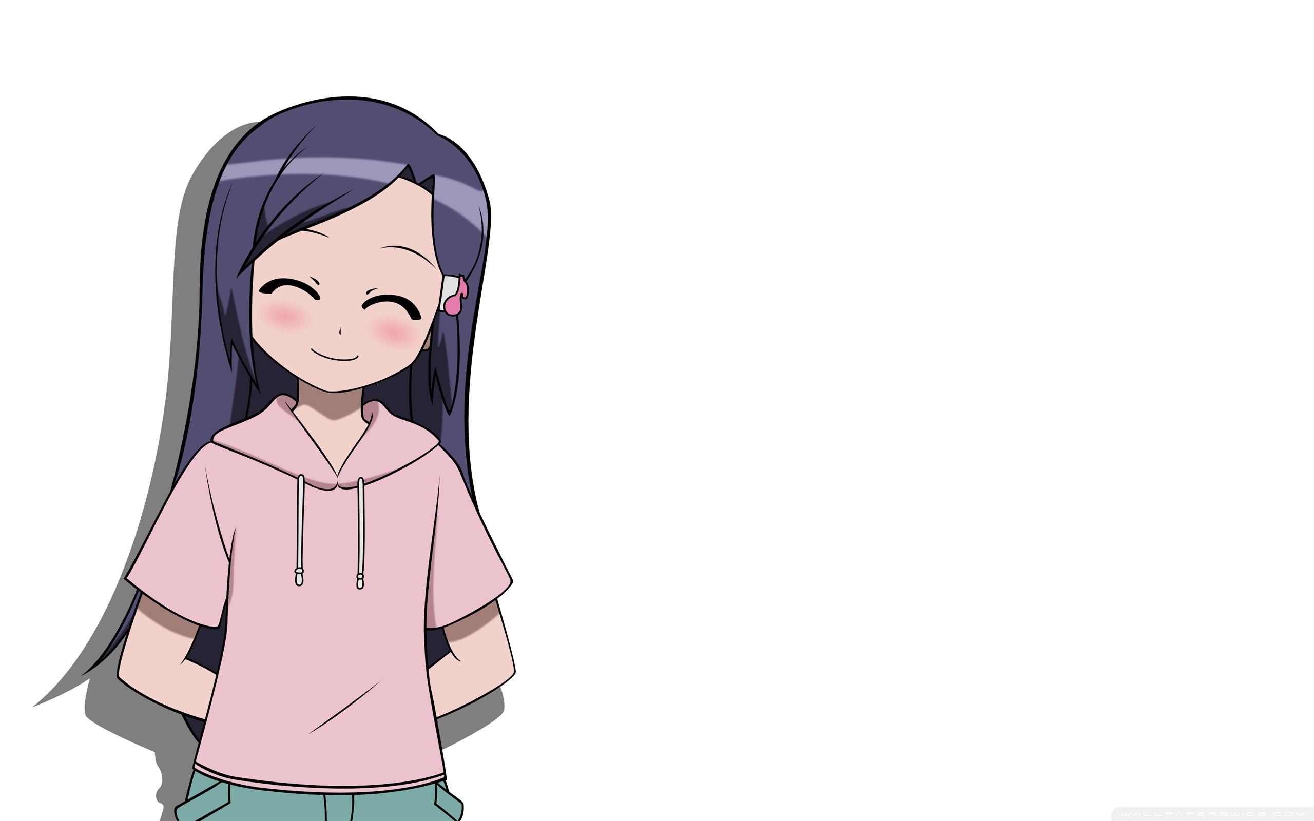 happy girl anime white background ❤ 4k hd desktop wallpaper for 4k