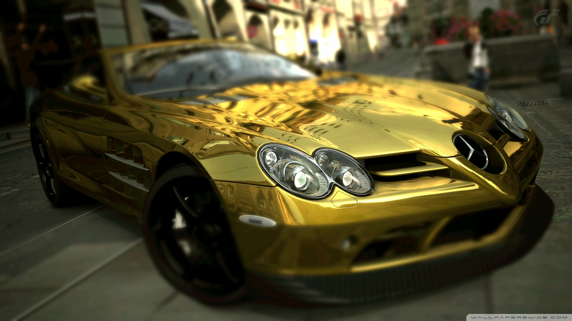 Mercedes benz slr mclaren gold 4k hd desktop wallpaper for - 4k car wallpaper for mobile ...