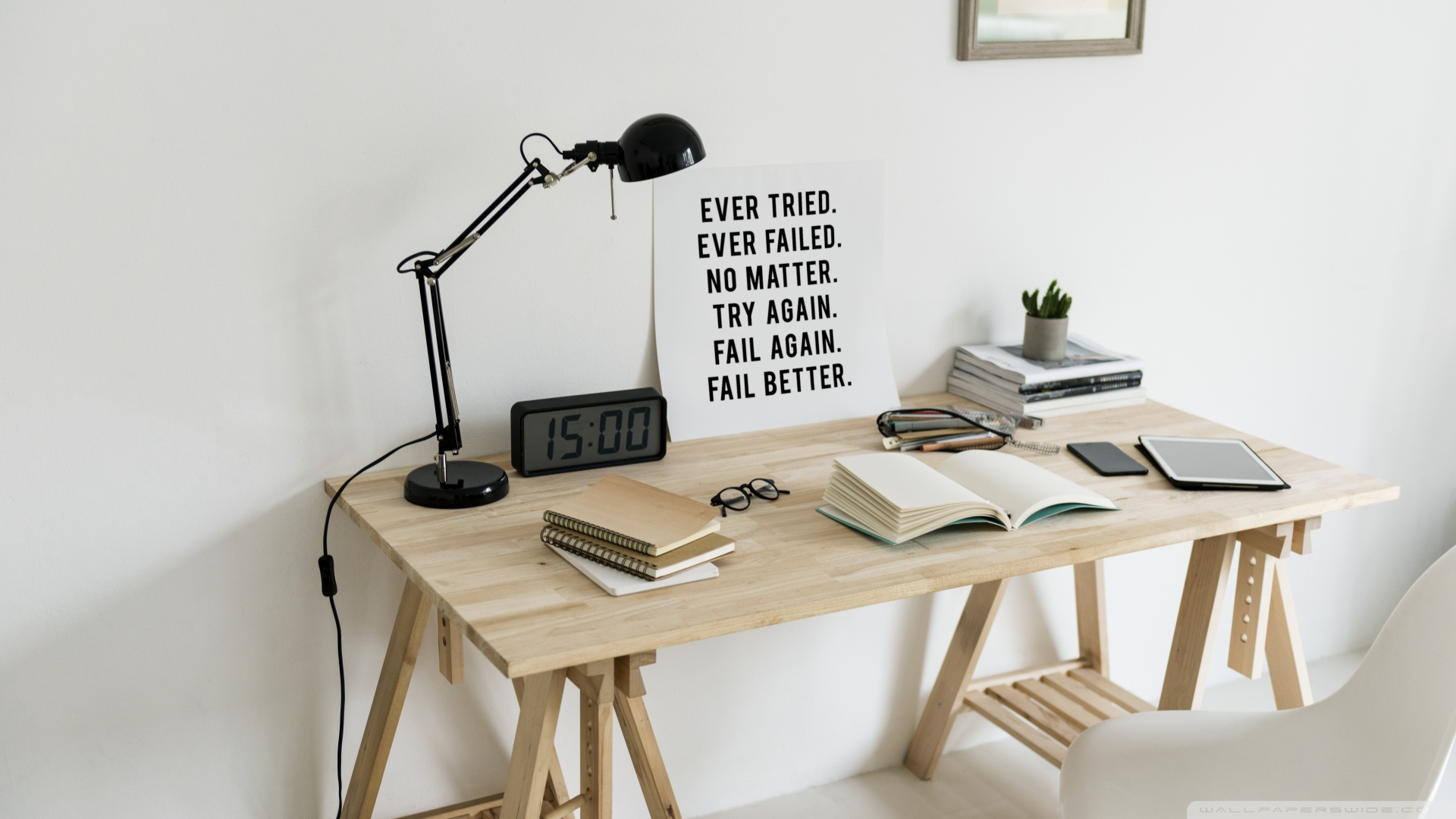 Minimal Workspace Motivational Quote 4k Hd Desktop Wallpaper