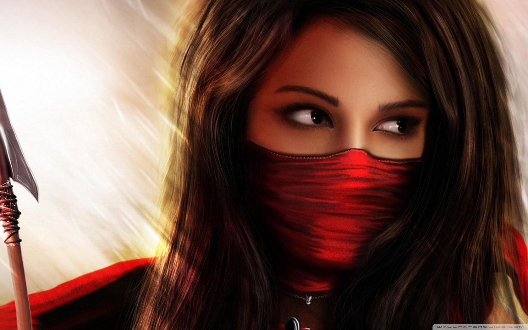 Ninja Girl Fantasy 4k Hd Desktop Wallpaper For 4k Ultra