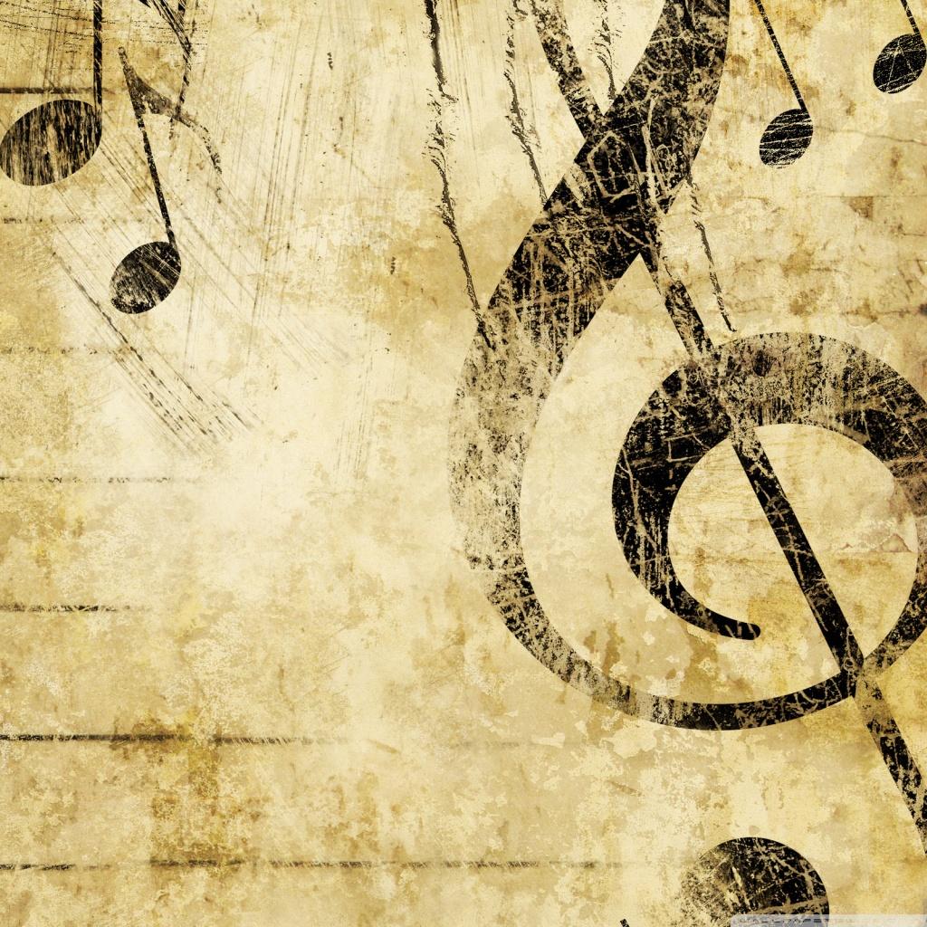Old Music Score Background 4K HD Desktop Wallpaper For 4K