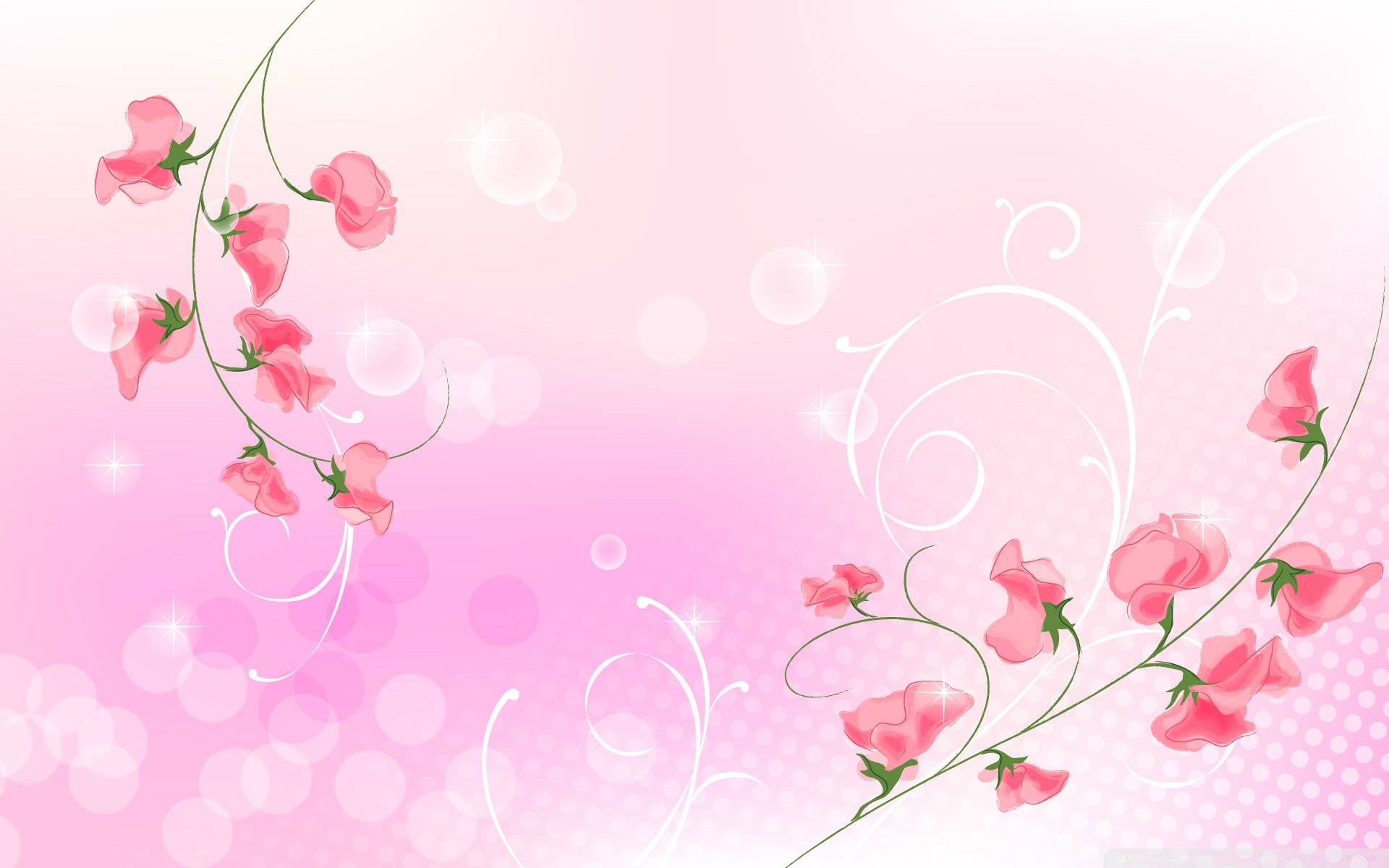 Pink flowers illustration 4k hd desktop wallpaper for 4k ultra hd wide mightylinksfo