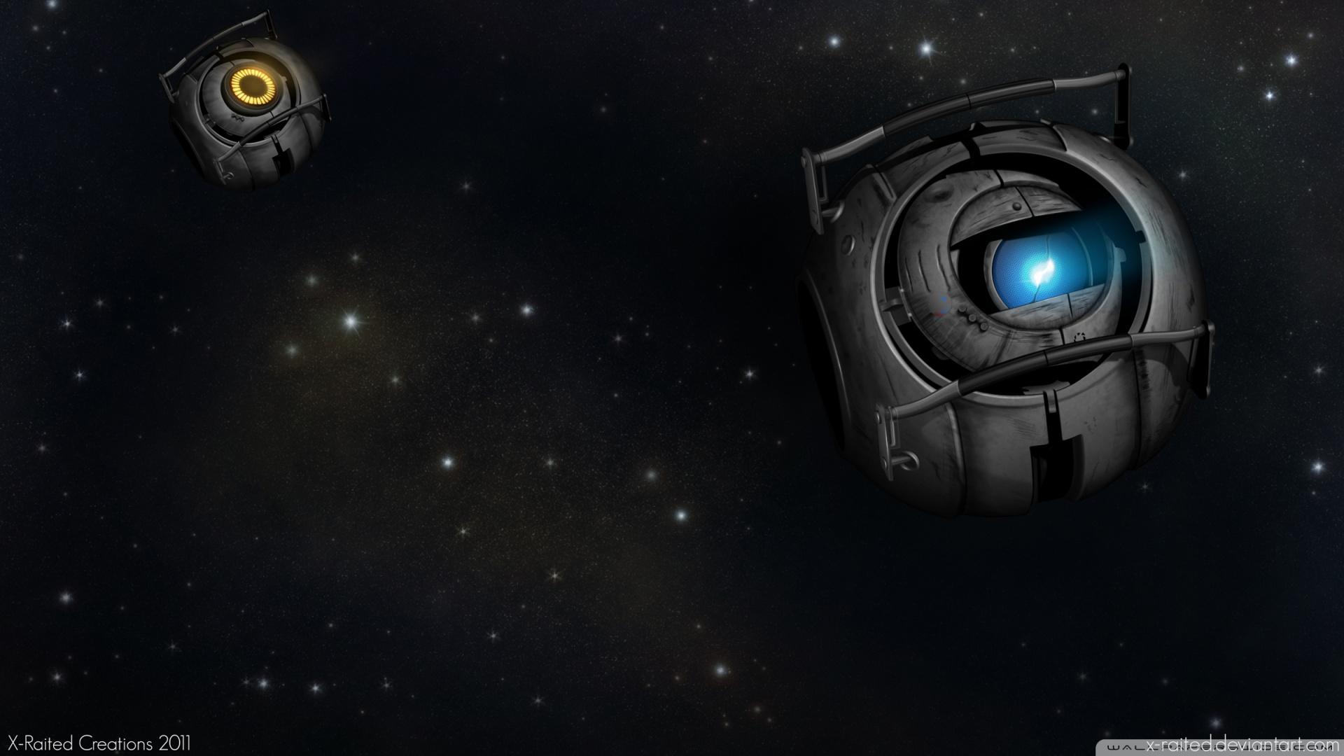 portal 2 wheatley in space ❤ 4k hd desktop wallpaper for 4k ultra