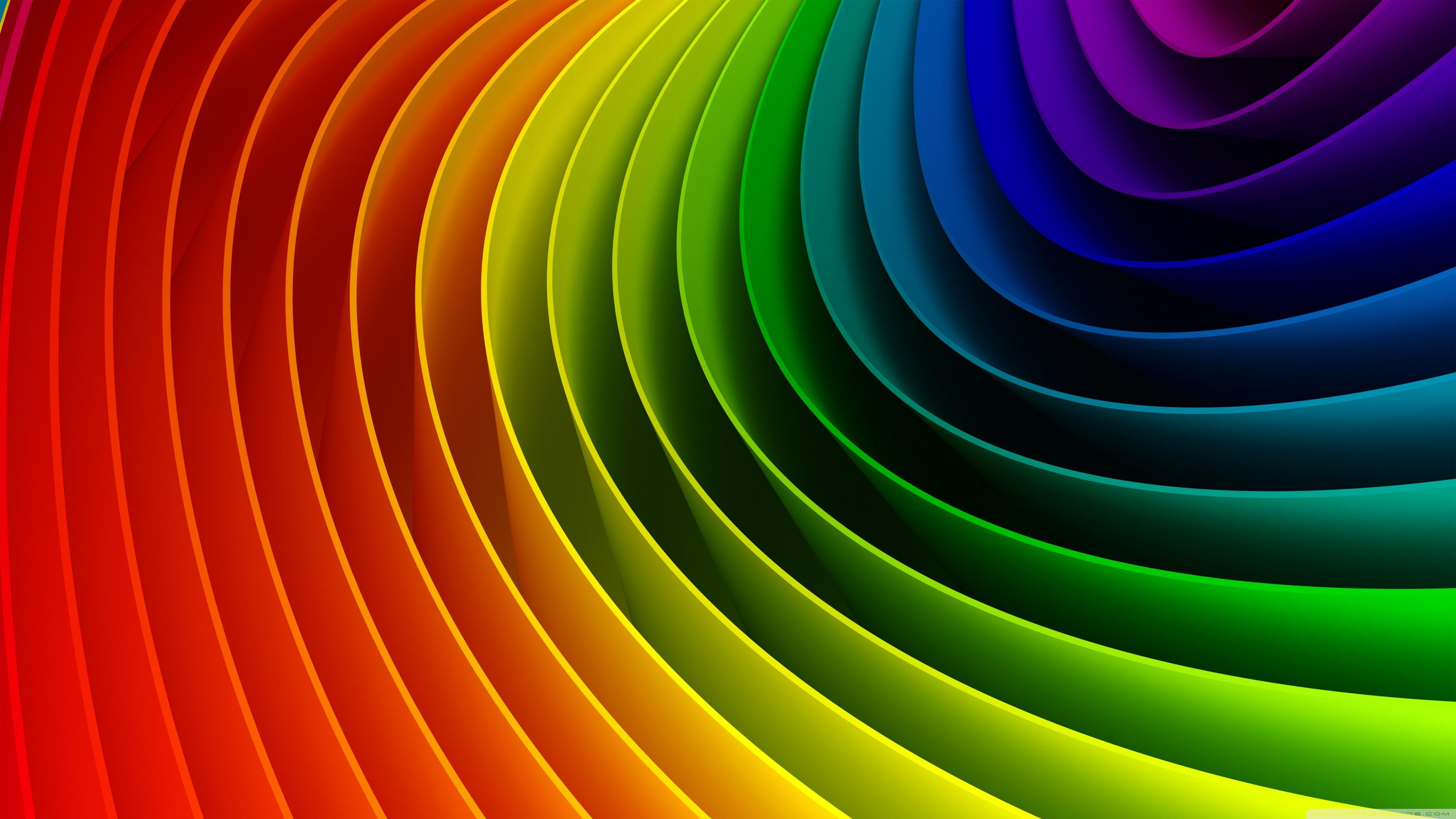 Rainbow Art 3D 4K HD Desktop Wallpaper For Ultra TV O Wide