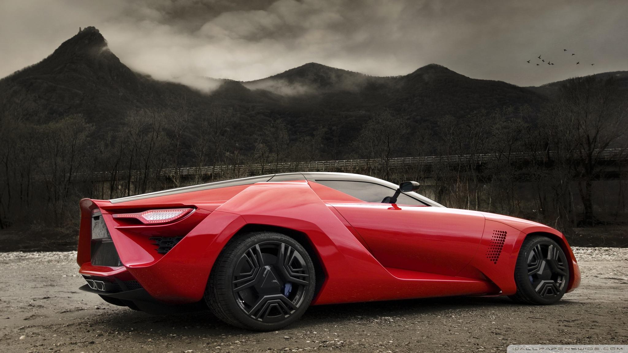red supercar ❤ 4k hd desktop wallpaper for 4k ultra hd tv • dual