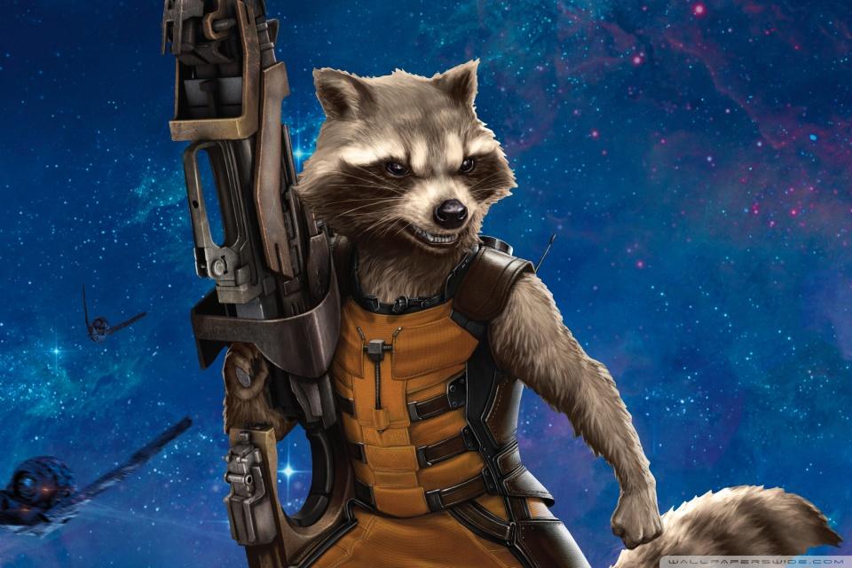 Rocket Raccoon 2014 4K HD Desktop Wallpaper For Ultra TV