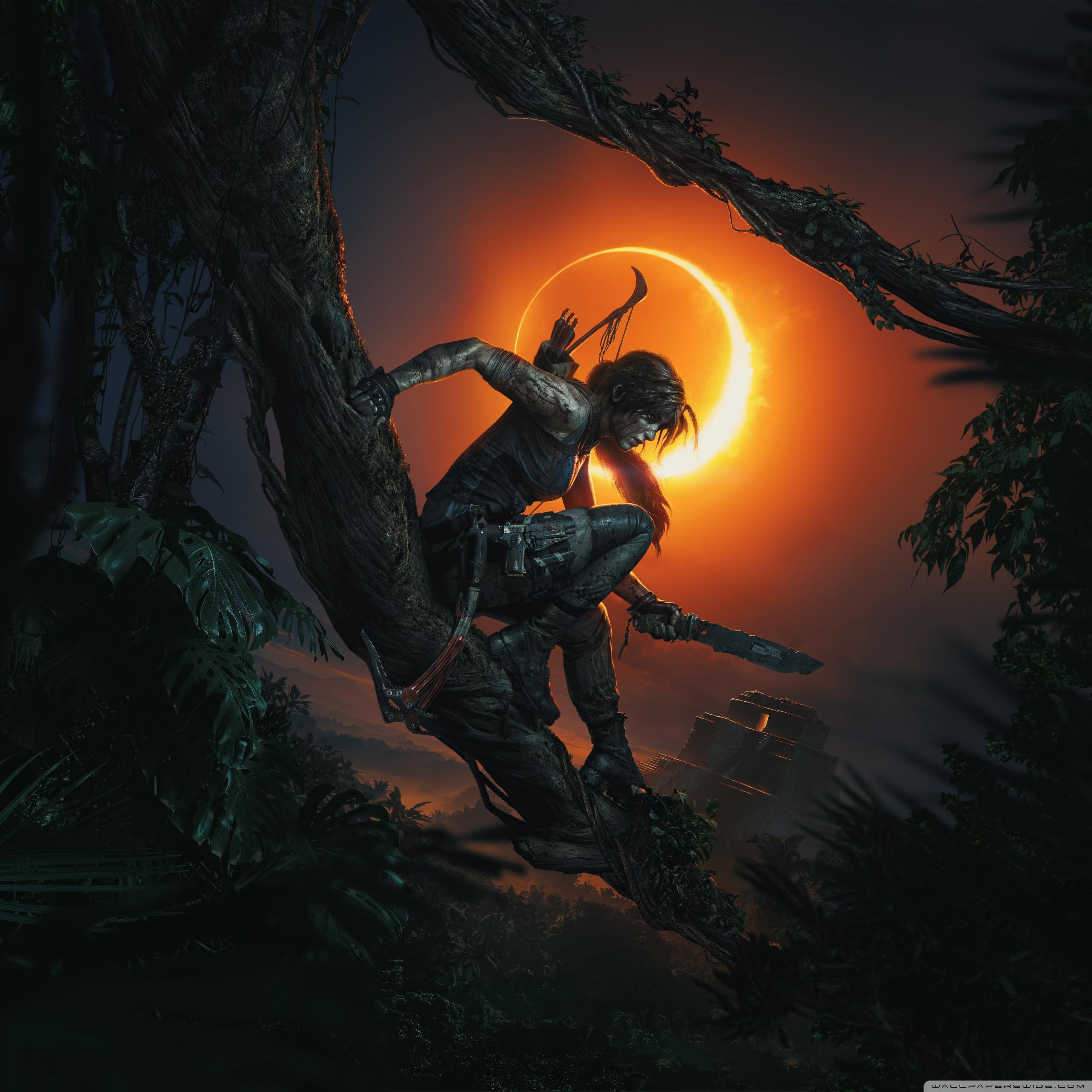 Tomb Raider Desktop Wallpaper: Shadow Of The Tomb Raider 2018 Puzzle Video Game 4K HD