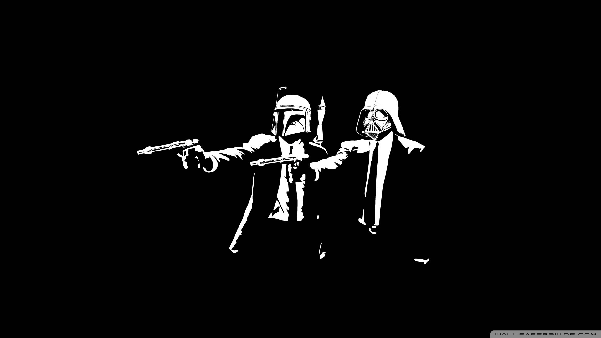 Star Wars Pulp Fiction Ultra Hd Desktop Background Wallpaper
