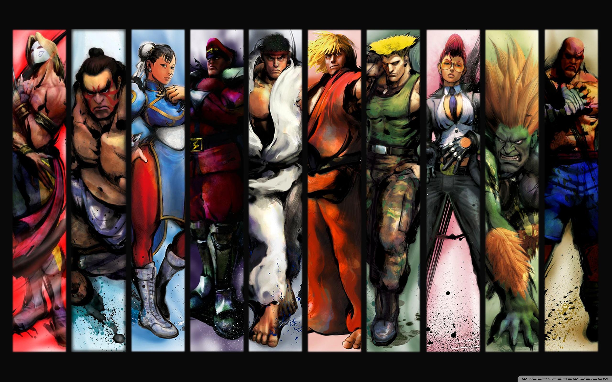 street fighter characters ❤ 4k hd desktop wallpaper for 4k ultra hd
