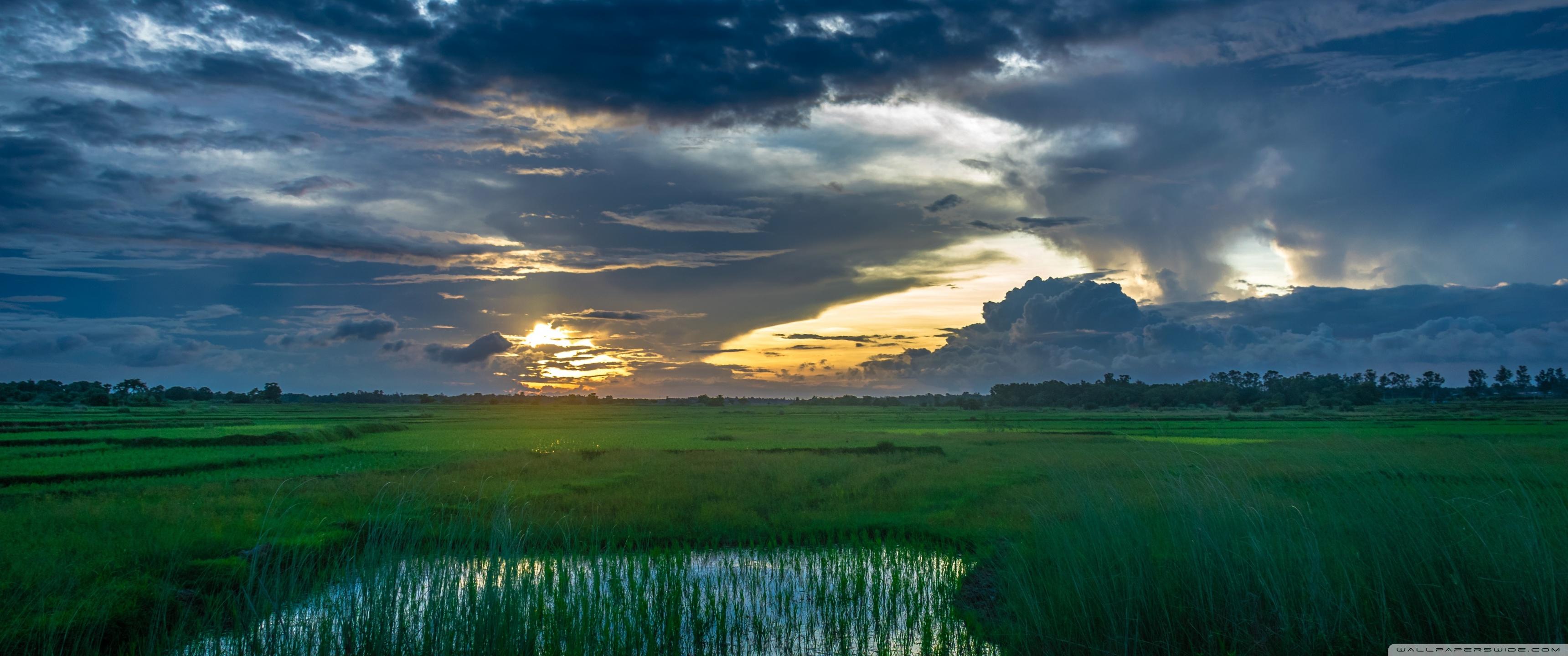 Pubg Wallpaper Landscape: Sunset Dark Clouds Landscape 4K HD Desktop Wallpaper For