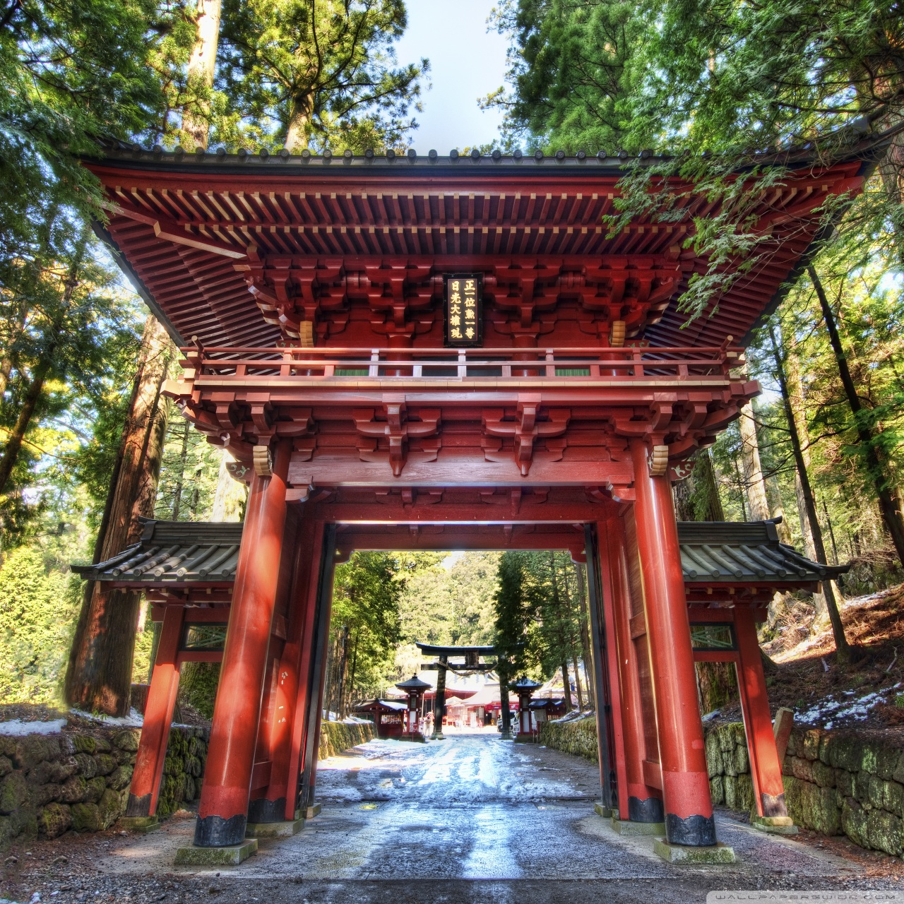 Temple Gate In Japan 4k Hd Desktop Wallpaper For 4k Ultra Hd Tv