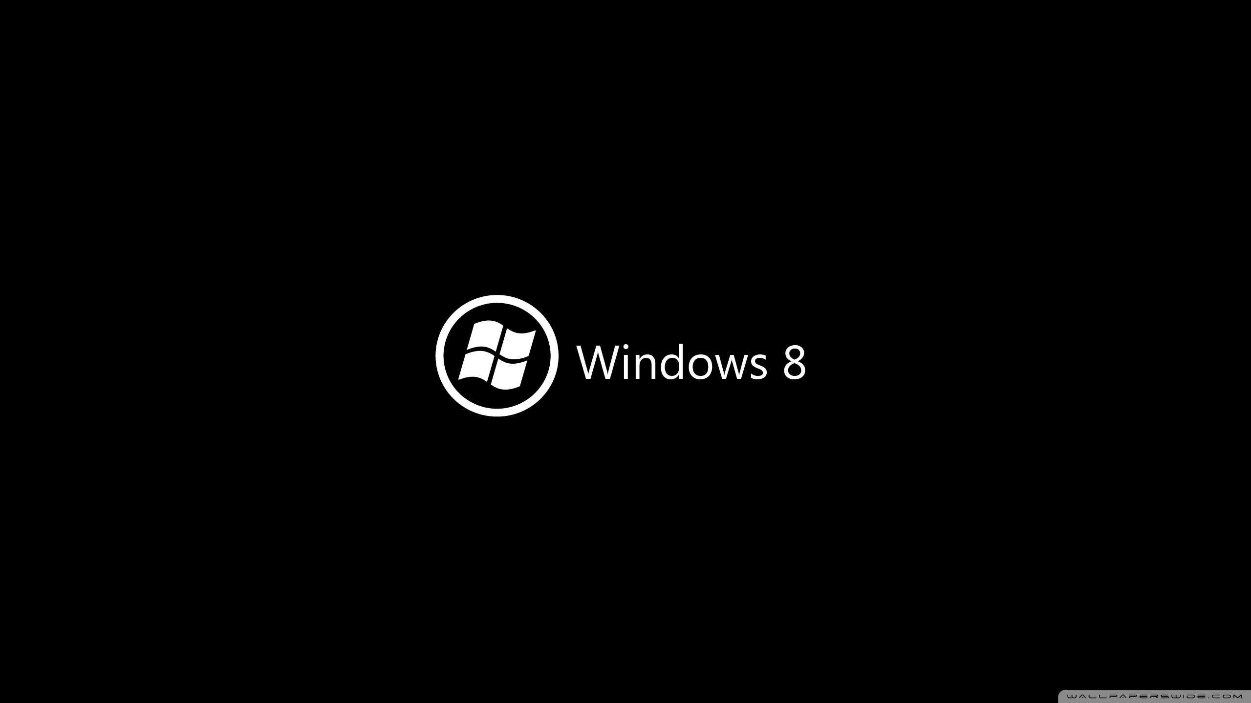Windows 8 On Black Ultra Hd Desktop Background Wallpaper For