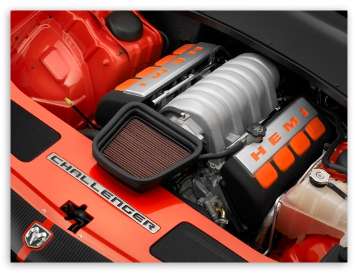 2006 Dodge Challenger Concept Engine Compartment HD wallpaper for Standard 4:3 Fullscreen UXGA XGA SVGA ; Mobile VGA iPad - VGA QVGA Smartphone ( PocketPC GPS iPod Zune BlackBerry HTC Samsung LG Nokia Eten Asus ) ;
