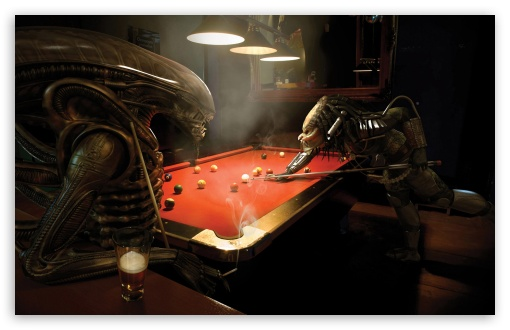 billiards wallpapers. Alien Vs Predator, Pool wallpaper for Standard 4:3 5:4 Fullscreen UXGA