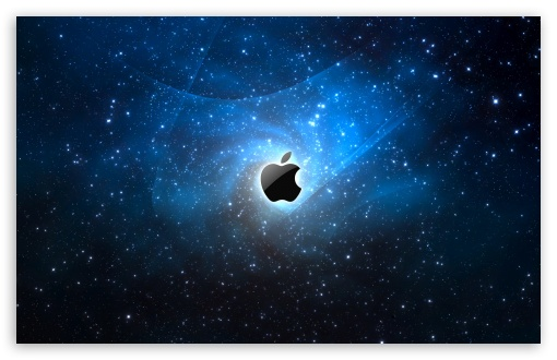 Apple Galaxy Blue wallpaper for Wide 16:10 5:3 Widescreen WHXGA WQXGA WUXGA