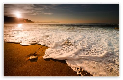 Beach Waves HD wallpaper for Wide 16:10 Widescreen WHXGA WQXGA WUXGA WXGA ;