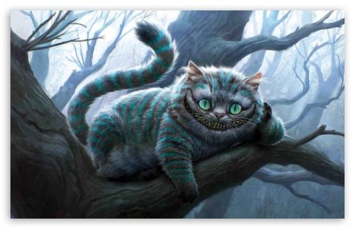 Cheshire Cat Artwork, Alice In Wonderland wallpaper for Standard 4:3 5:4