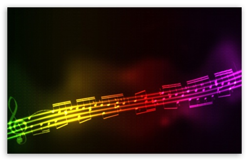 music note wallpaper. 2 Colorful Musical Notes