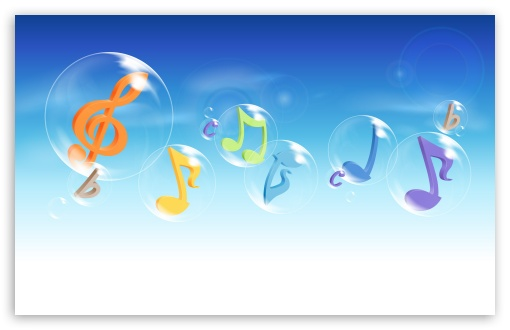 wallpaper music notes. 3 Colorful Musical Notes 3