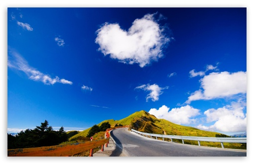 wallpaper heart shape. 2 Heart Shaped Cloud wallpaper