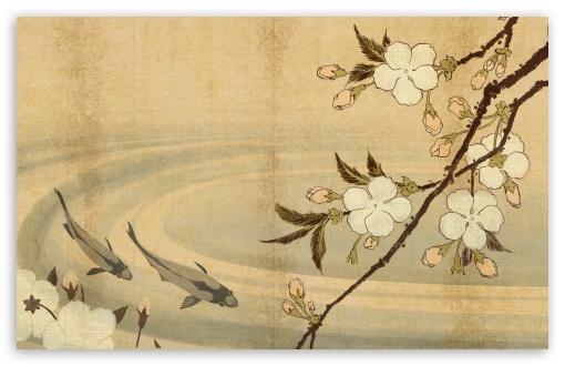 japanese art wallpaper. 3 Japanese Carp Art wallpaper
