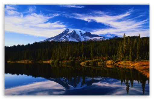 Mountain Lake Reflection HD wallpaper for Wide 16:10 Widescreen WHXGA WQXGA WUXGA WXGA ;