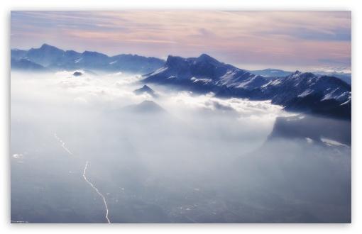Mountain Mist HD wallpaper for Wide 16:10 Widescreen WHXGA WQXGA WUXGA WXGA ;