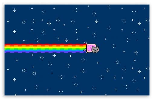 2 Nyan Cat HD wallpaper for