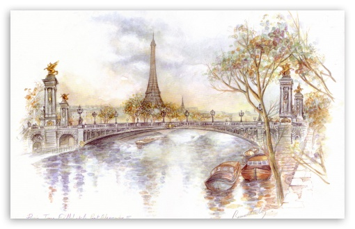 Paris Drawing HD wallpaper for Standard 4:3 Fullscreen UXGA XGA SVGA ; Wide 16:10 5:3 Widescreen WHXGA WQXGA WUXGA WXGA WGA ; HD 16:9 High Definition WQHD QWXGA 1080p 900p 720p QHD nHD ; Other 3:2 DVGA HVGA HQVGA devices ( Apple PowerBook G4 iPhone 4 3G 3GS iPod Touch ) ; Mobile VGA WVGA iPhone iPad PSP - VGA QVGA Smartphone ( PocketPC GPS iPod Zune BlackBerry HTC Samsung LG Nokia Eten Asus ) WVGA WQVGA Smartphone ( HTC Samsung Sony Ericsson LG Vertu MIO ) HVGA Smartphone ( Apple iPhone iPod BlackBerry HTC Samsung Nokia ) Sony PSP Zune HD Zen ;