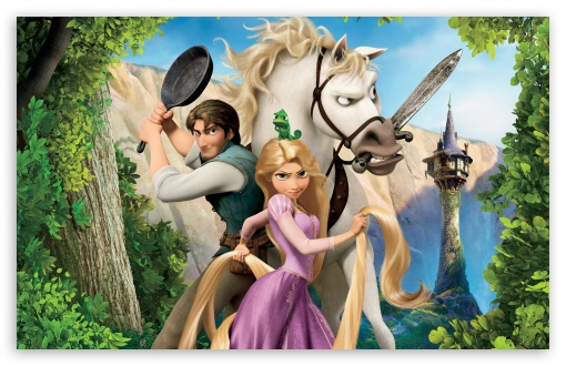 Tangled   Rapunzel, Flynn And Maximus HD wallpaper for Standard 4:3 5:4 Fullscreen UXGA XGA SVGA QSXGA SXGA ; Wide 16:10 5:3 Widescreen WHXGA WQXGA WUXGA WXGA WGA ; HD 16:9 High Definition WQHD QWXGA 1080p 900p 720p QHD nHD ; Other 3:2 DVGA HVGA HQVGA devices ( Apple PowerBook G4 iPhone 4 3G 3GS iPod Touch ) ; Mobile VGA WVGA iPhone iPad PSP Phone - VGA QVGA Smartphone ( PocketPC GPS iPod Zune BlackBerry HTC Samsung LG Nokia Eten Asus ) WVGA WQVGA Smartphone ( HTC Samsung Sony Ericsson LG Vertu MIO ) HVGA Smartphone ( Apple iPhone iPod BlackBerry HTC Samsung Nokia ) Sony PSP Zune HD Zen ; Tablet 2 Android 3 DVGA HVGA HQVGA devices ( Apple PowerBook G4 iPhone 4 3G 3GS iPod Touch ) ;