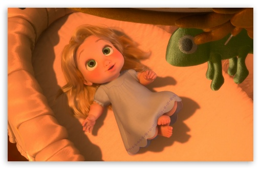 Tangled Baby Rapunzel HD wallpaper for HD 16:9 High Definition WQHD QWXGA 1080p 900p 720p QHD nHD ;