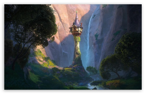 Tangled Castle HD wallpaper for Wide 16:10 Widescreen WHXGA WQXGA WUXGA WXGA ;