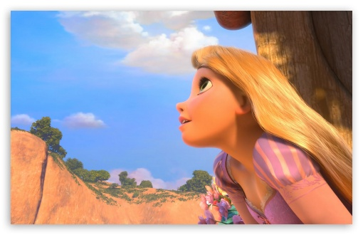 Tangled Rapunzel HD wallpaper for HD 16:9 High Definition WQHD QWXGA 1080p 900p 720p QHD nHD ;