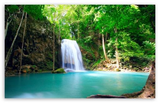 Tropical Waterfall HD wallpaper for Wide 16:10 Widescreen WHXGA WQXGA WUXGA WXGA ;