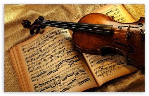 Violin And Notes wallpaper for Wide 16:10 Widescreen WHXGA WQXGA WUXGA WXGA ;