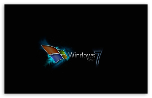 wallpaper black windows 7. 1 Windows Seven Black