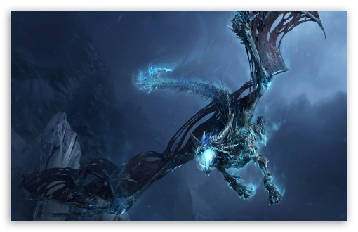 World Of Warcraft Ice Dragon wallpaper for Standard 4:3 5:4 Fullscreen UXGA